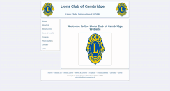 Preview of cambridgelions.org.uk