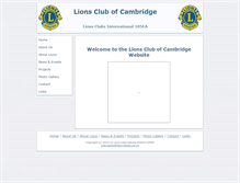Tablet Preview of cambridgelions.org.uk